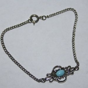 """Stunning silver and turquoise bracelet 7"""""""